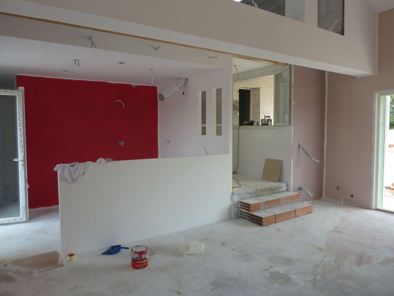 Peinture la future maison de jean baptiste et virginie - Mur couleur framboise ...
