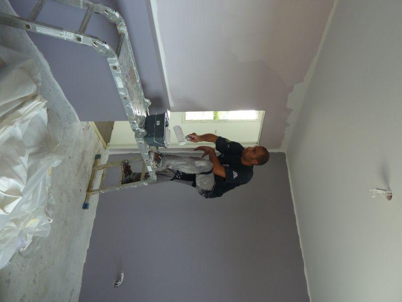 Peinture la future maison de jean baptiste et virginie for Chambre gris clair